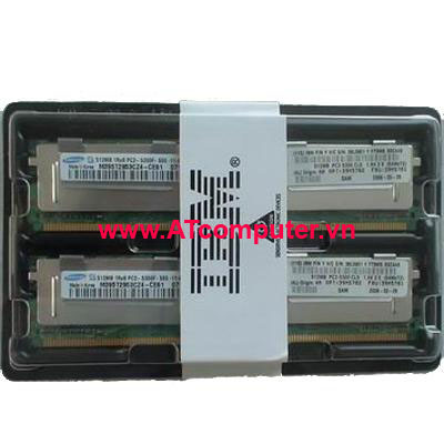 RAM IBM 2GB DDR2-667Mhz PC2-5300 (2x1GB) CL5 FB-DIMM ECC. Part: 41Y2762