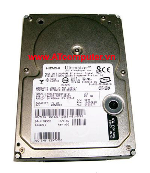 HDD HITACHI 73GB 10K FC. Part: 17R6288