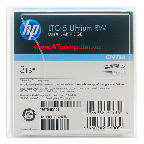 HP Ultrium LTO-5 3TB Data Cartridge, P/N: C7975A