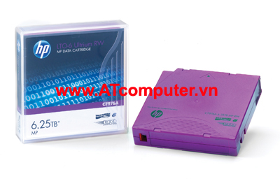 HP Ultrium LTO-6 6.25TB Data Cartridge, P/N: C7976A