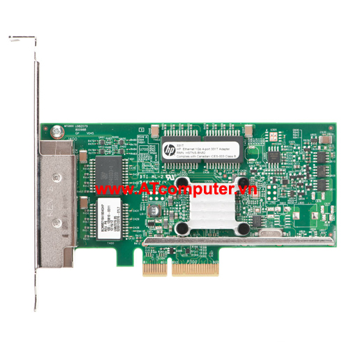HP NC331T PCI-Express Quad Port Gigabit Server Adapter, P/N: 647594-B21