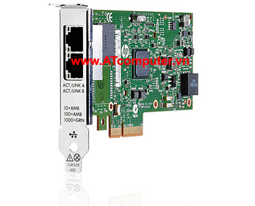 HP NC361T PCI-Express Dual Port Gigabit Server Adapter, P/N: 652497-B21