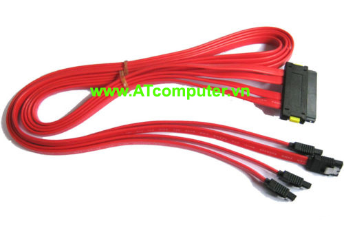 Cable Hitachi-SAS-847P SFF-8484 to 4SATA, Host: Int. 4i Multilane to Target: SATA2 7F*4  Length: 1.0M, P/N: RC-2029 - L
