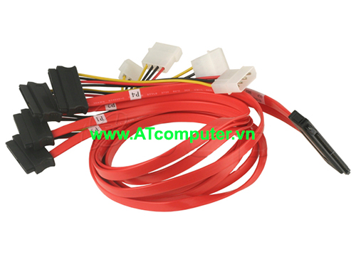 Cable SAS 32 Pin to SAS 29P *4 w/power cable (SFF-8484 TO SFF-8482) Length: 0.5M, P/N: RC-2140 - L