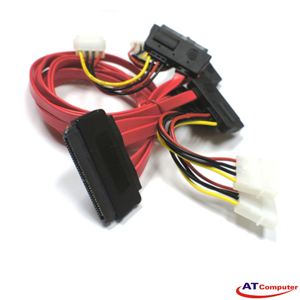 Cable SAS 32 Pin to SAS 29P *4 w/power cable (SFF-8484 TO SFF-8482) Length: 1.0M, P/N: RC-2139 - L