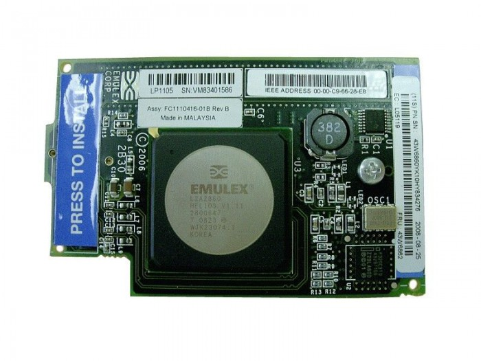 IBM Emulex 4Gb Fibre Channel Expansion Card, Part: 43W6859