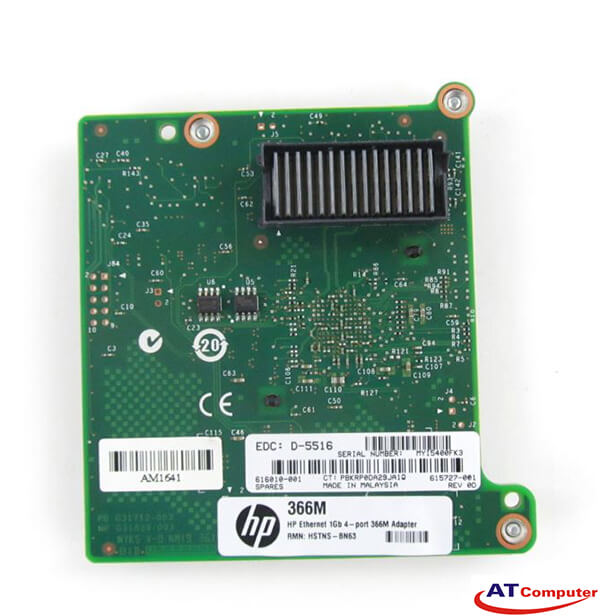 HP Ethernet 1Gb 4-port 366M Adapter, Part: 615729-B21