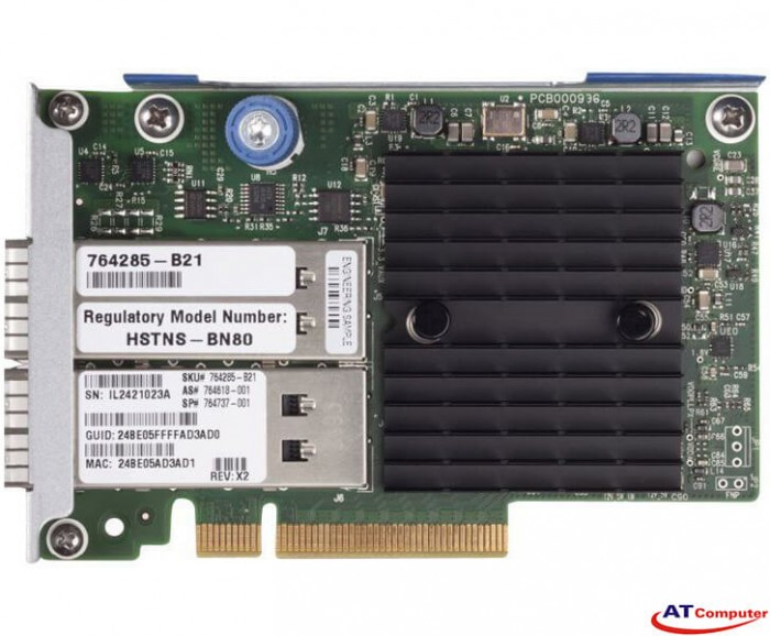 HP InfiniBand FDR, Ethernet 10Gb 40Gb 2-port 544+FLR-QSFP Adapter, Part: 764285-B21