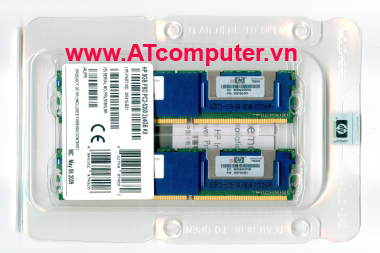 RAM HP 8GB (2x4GB) dual rank DIMM PC2-5300 DDR2. Part: 408854-B21