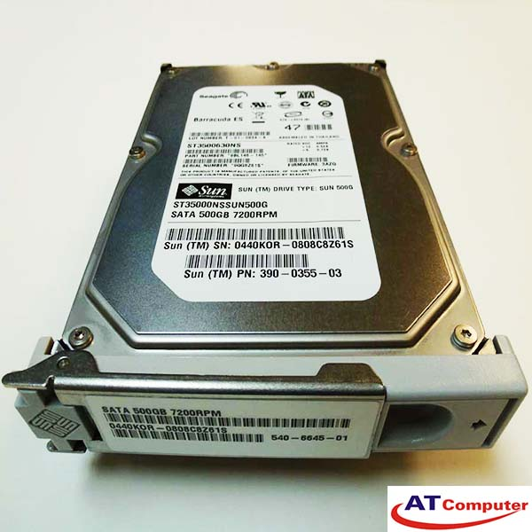 SUN 500GB SATA 7.2K 3.5. Part: XTA5000S8-500G7KZ, 540-6635
