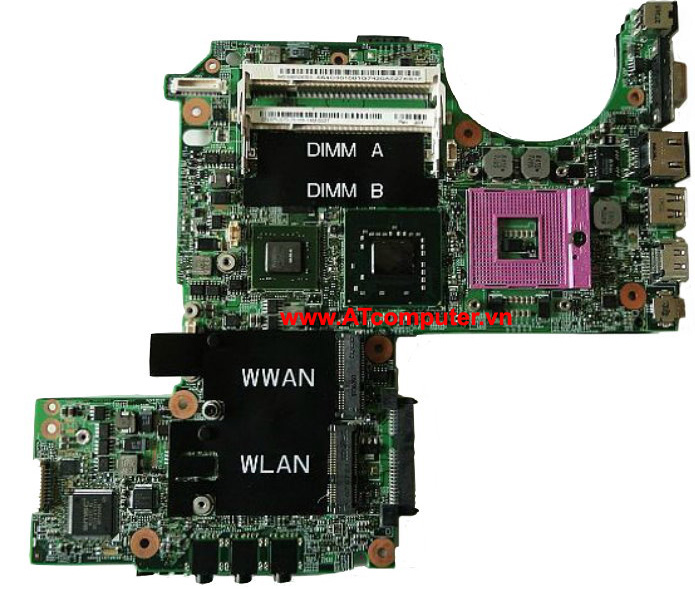 MAINBOARD DELL Latitude D630, Intel 965, VGA  rời, Part: DT781