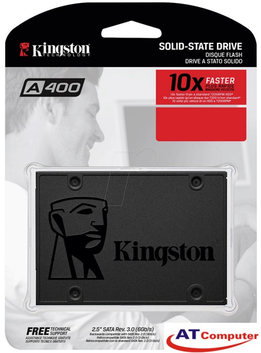 SSD Kingston SSDNow A400 120GB Sata3 2.5 (đọc 500MB/s, Ghi 450MB/s) - SA400S37/120G