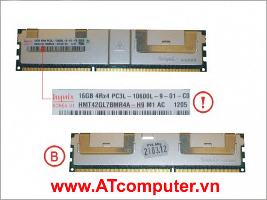 RAM FUJITSU 16GB (4X4GB) DDR3 1333 MHZ PC3-10600 RG D. Part: S26361-F4003-L644