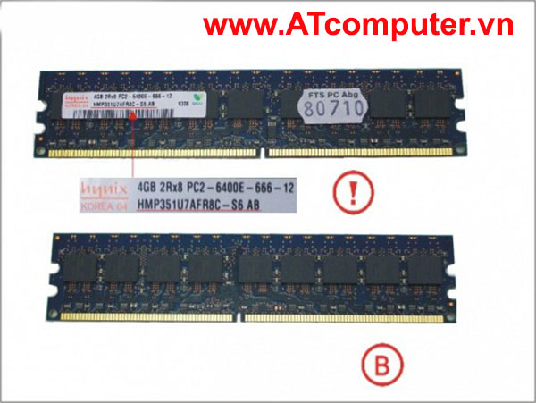 RAM FUJITSU 4GB DDR2-800 PC2-6400 UB D ECC. Part: S26361-F3870-L516