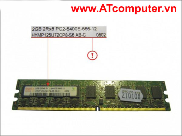 RAM FUJITSU 2GB DDR2-800 PC2-6400E RG ECC. Part: S26361-F3373-L414
