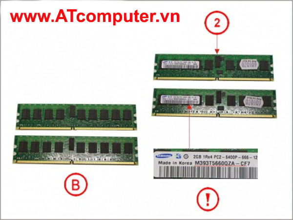 RAM FUJITSU 4GB (2X2GB) DDR2-800 PC2-6400 RG ECC. Part: S26361-F3550-L512