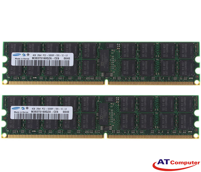 RAM FUJITSU 8GB DDR2-667Mhz PC2-5300 (2X4GB) RG D ECC. Part: S26361-F3449-L524