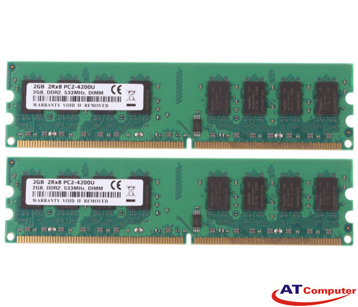 RAM FUJITSU 4GB DDR2-533Mhz PC2-4200F (2X2GB) FBD D ECC. Part: S26361-F3313-L523
