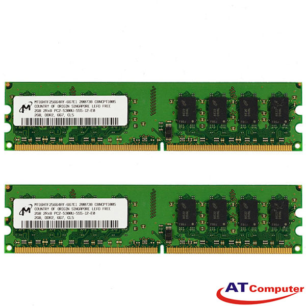 RAM FUJITSU 4GB DDR2-667Mhz PC2-5300F 2X2GB FBD D ECC. Part: S26361-F3230-L523