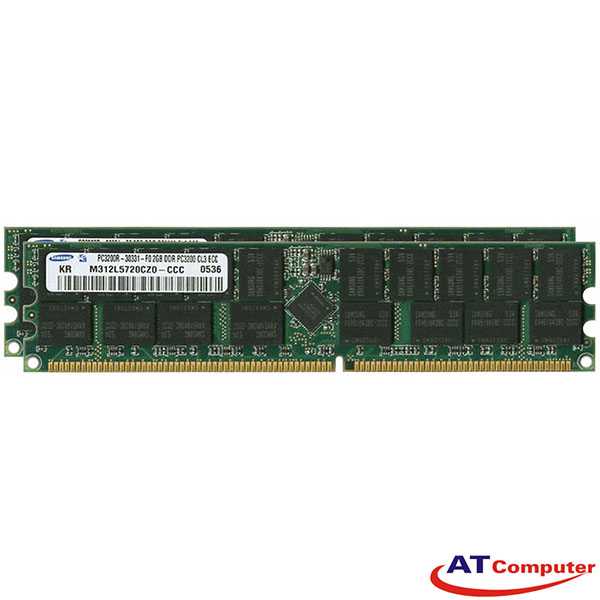 RAM FUJITSU 4GB DDR-400MHz PC-3200 (2X2GB) ECC. Part: S26361-F3072-R523