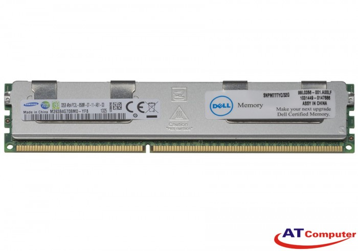 RAM DELL 32GB DDR3-1066MHz PC3-8500 Registered ECC. Part: A5272862, A5283563