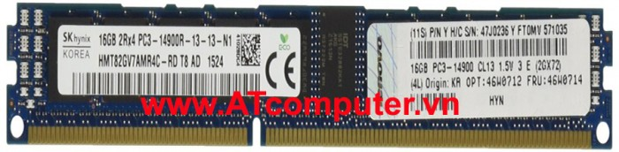 RAM IBM 16GB DDR3-1866MHz PC3-14900 Registered ECC. Part: 00D5048, 00D5047