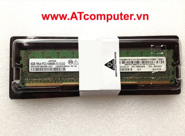 RAM IBM 8GB DDR3-1600MHz PC3-12800 Registered ECC VLP. Part: 00D4993, 00D4992