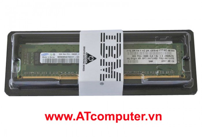 RAM IBM 2GB (1x 2 GB, 1Rx8, 1.35 V) PC3L-10600 CL9 ECC DDR3 1333 MHz LP RDIMM. Part: 49Y1403, 00VW620