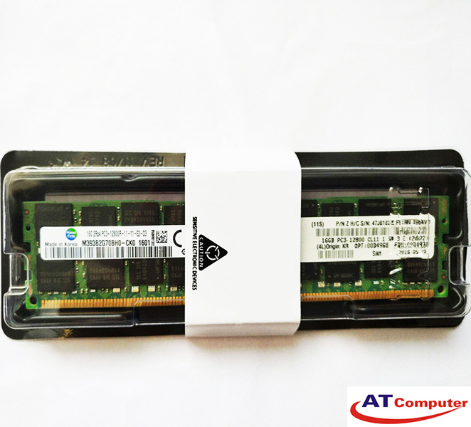 RAM IBM 16GB DDR3-1600Mhz PC3-12800 Registered ECC. Part: 46W0672