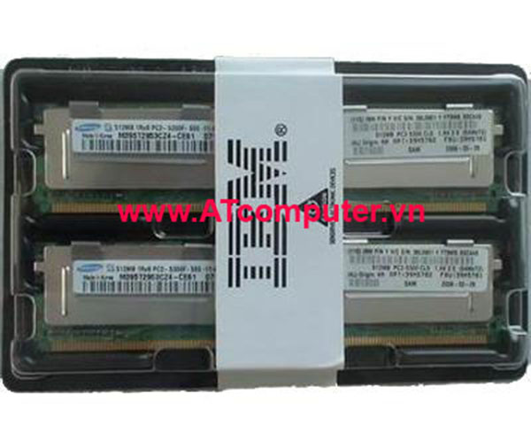 RAM IBM 8GB (2x4GB) REGISTERED PC2-4200 CL5 VLP. Part: 39M5870, 40U6421