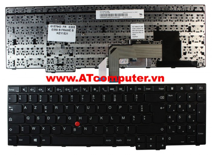 Bàn phím IBM ThinkPad E550, E550C, E555 Series. P/N: SN20F22537, 00HN000, 00HN074, V147820AS1