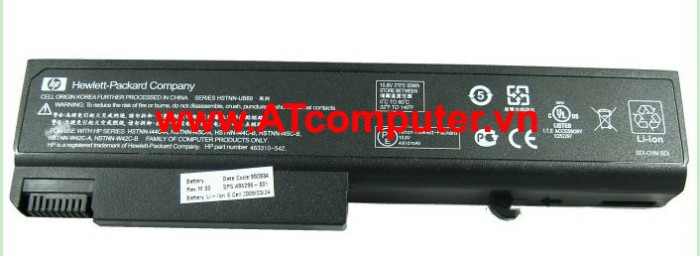 PIN HP 6736b, 8530w, 6445b, 6450b, 6455b. 6Cell, Original, Part: HSTNN-UB68, HSTNN-C66C, HSTNN-IB69