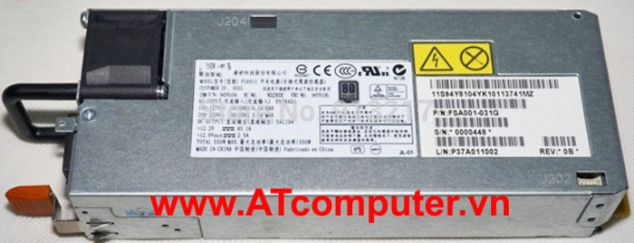 IBM 550W Power Supply, For IBM X3300 M4, Part: 00W2309, 94Y7677