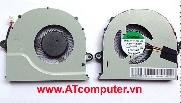 FAN CPU ACER Aspire E5-571G, E5-571, E5-471G, E5-471, V3-572G. Part: DC28000ERF0, DFS561405FL0T