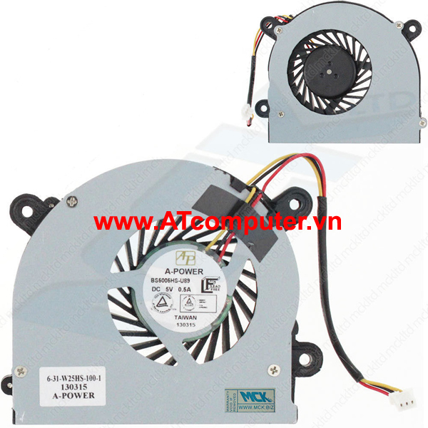 FAN CPU Clevo C4500, C4800, C5100Q, C5500Q, 7872. Part: AB6505HX-J03(C4500), BS5005HS-U89