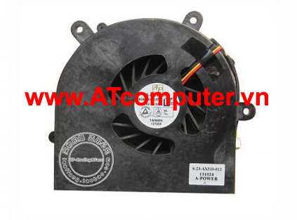 FAN CPU Clevo P150EM, P170HM, P170HM3, NP8150, NP8170. Part: BS6005MS-U0D, 6-23-AX510-012