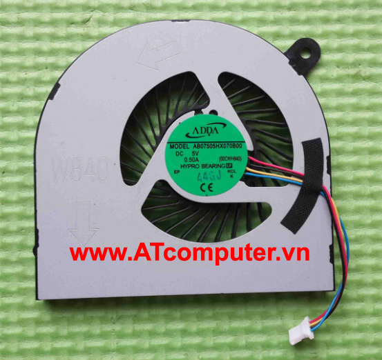 FAN CPU Clevo W840, H840. Part: AB07505HX070B00(00CWH840)