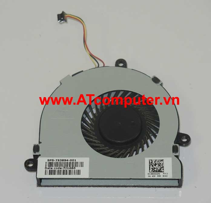 FAN CPU HP 14-G000, 14-R000, 15-G000, 15-R000 Series. Part: 753894-001