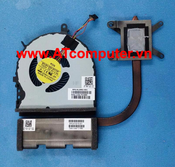 FAN CPU HP Envy 17-N000, M7-N Series. Part: 812682-001, 813798-001, 813799-001