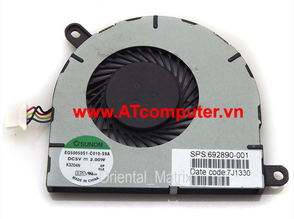 FAN CPU HP Envy Spectre 13 XT, 13-2000 Series. Part: EG50050S1-C010-S9A, 692890-001