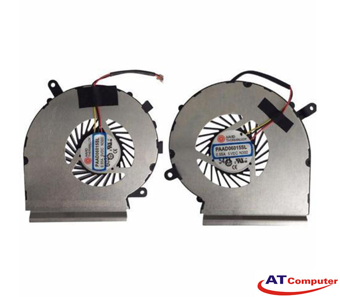 FAN CPU MSI GE62, GE72, PE60, PE70, GL62, GL72 Series. Part: PAAD06015SL(N303)