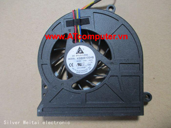 FAN CPU TOSHIBA Satellite C650, C655 Series. Part: KSB06105HB-AG1S, V000220360, KSB06105HB-AC04, V000210960