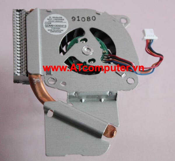FAN CPU TOSHIBA Portege R600, A600, A601, A602, A605 Series. Part: GDM610000413, MCF-134PAM05