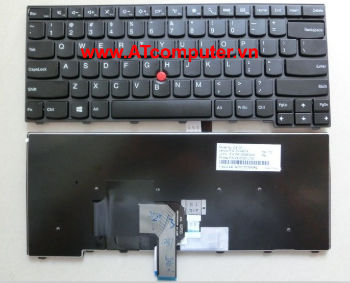 Bàn phím IBM ThinkPad T431s, T440, T440s, Edge E431 Series. Part: 04Y2726, 04Y2756, 0C02253, 04Y0862, 04Y0824