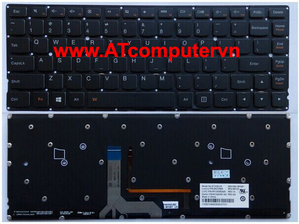 Bàn phím LENOVO YOGA 2 Series. Part: 25212817, 25212849, 25212818, ST1KB-US, NSK-BP0BT, 25212848, PK130S92A00, 9Z.NAXBT.001