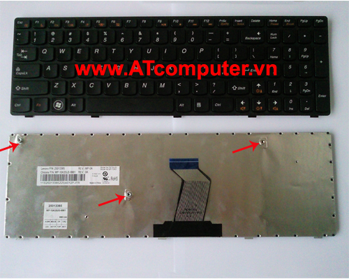 Bàn phím LENOVO G580, G580A, G585, G585A Series. Part: 25-201846, V-117020NS1-US