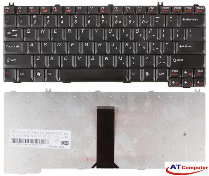 Bàn phím Lenovo 3000 N100, F41, N220, C100, V100 Series. Part: 25-007805, 9662 46AS1-US, X08-US, 25-007696, 13-00468, 39T7385, 39T7417