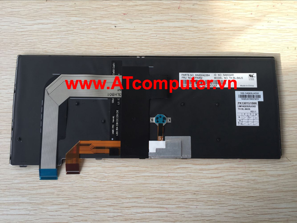 Bàn phím IBM ThinkPad T460, T460s, T460p Series. Part: 00PA452, SN20H42364