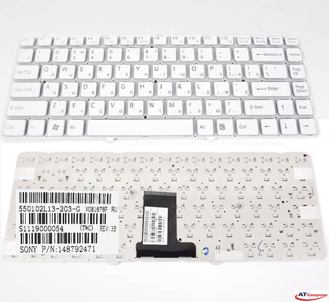 Bàn phím Sony Vaio VPC-EA Series. Part: 148792421, MP-09L13US-8861, 148792471, 148792481