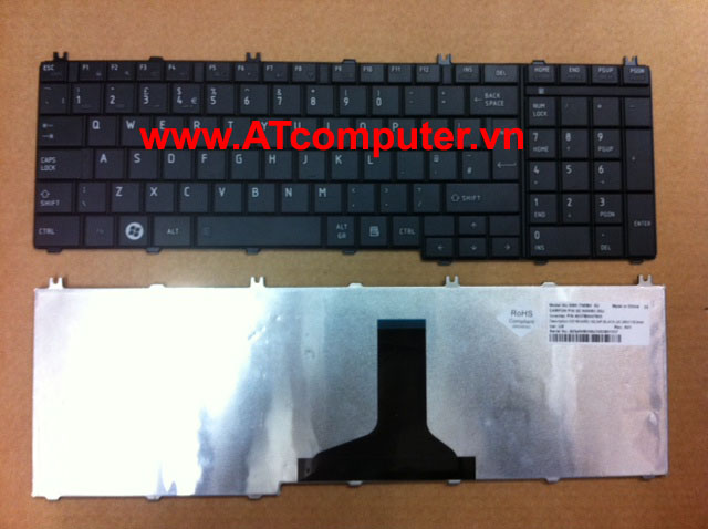 Bàn phím TOSHIBA Satellite P200, P205, X205 Series. Part: K000050500, K000047870